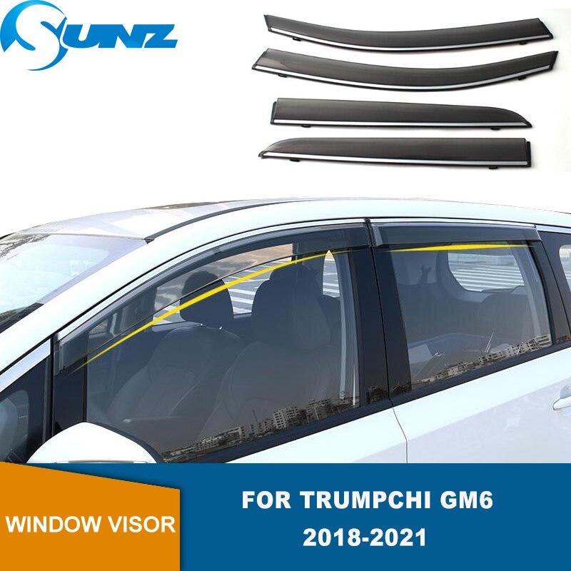Window Shield For Trumpchi GM6 2018 2019 2020 2021 4pcs Window Visor Vent Shades Sun Rain Deflector Guards SUNZ