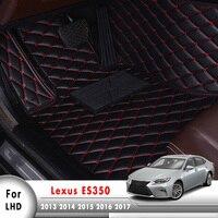 Car Floor Mats For Lexus ES ES250 ES300h ES350 2013 to 2017 XV60 250 300h 350 2014 2015 2016 Accessories Auto Styling