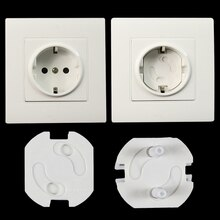 10pcs EU Power Socket Electrical Outlet Baby Kids Child Safety Guard Protection Anti Electric Shock