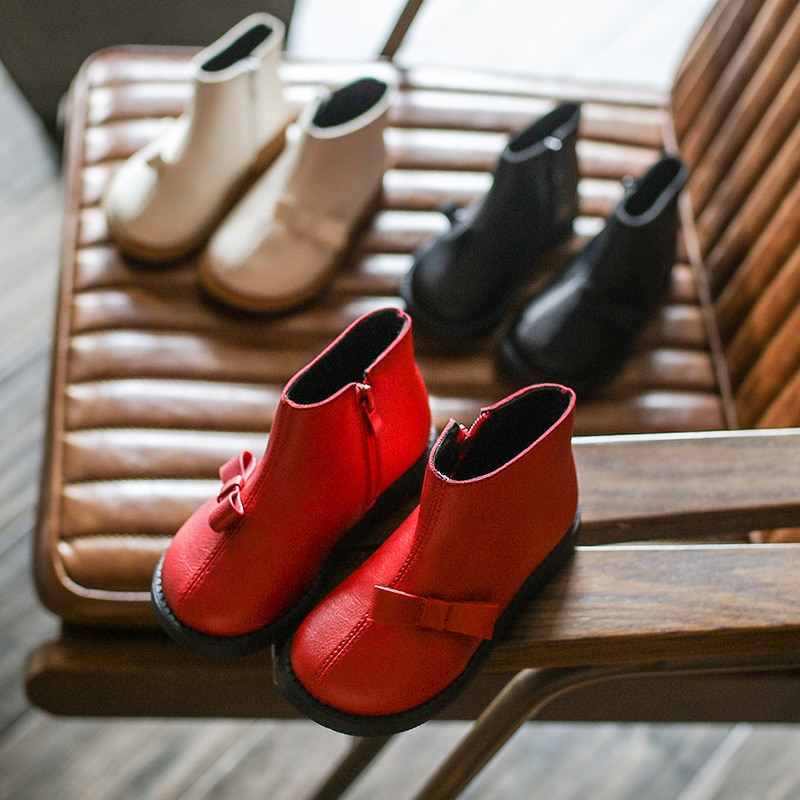 factory-customized-comfortable-baby-girl-soft-sole-leather-shoes-retro-round-toe-bow-casual-shoes-2021-spring-autumn-and-winter