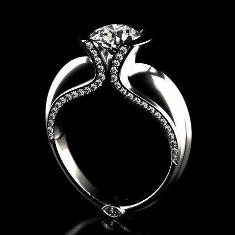 Anillos de amor Vintage para mujer anillo grande de circonio Color plata anillo de boda Anillos de Compromiso de cristal moda declaración joyería Bague