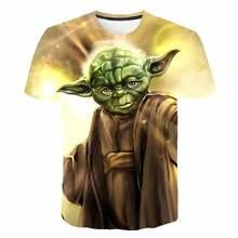 2020 Yoda Mandalorian T-shirt hommes femme mode belle bébé Star Wars T-shirt manches courtes loisirs T-shirt mots de sagesse hauts