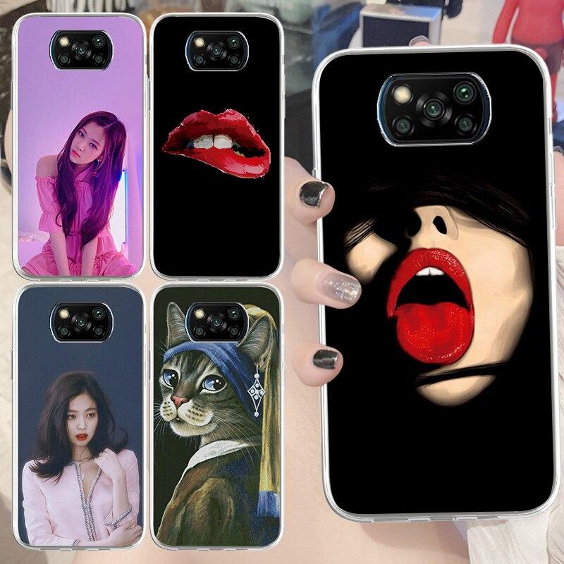 Fashionable Phone Case for Xiaomi Pocophone F1 Redmi10X 9C GO 9A 8 7 7A 8A 9T K20 K30 TPU Vogue Girl
