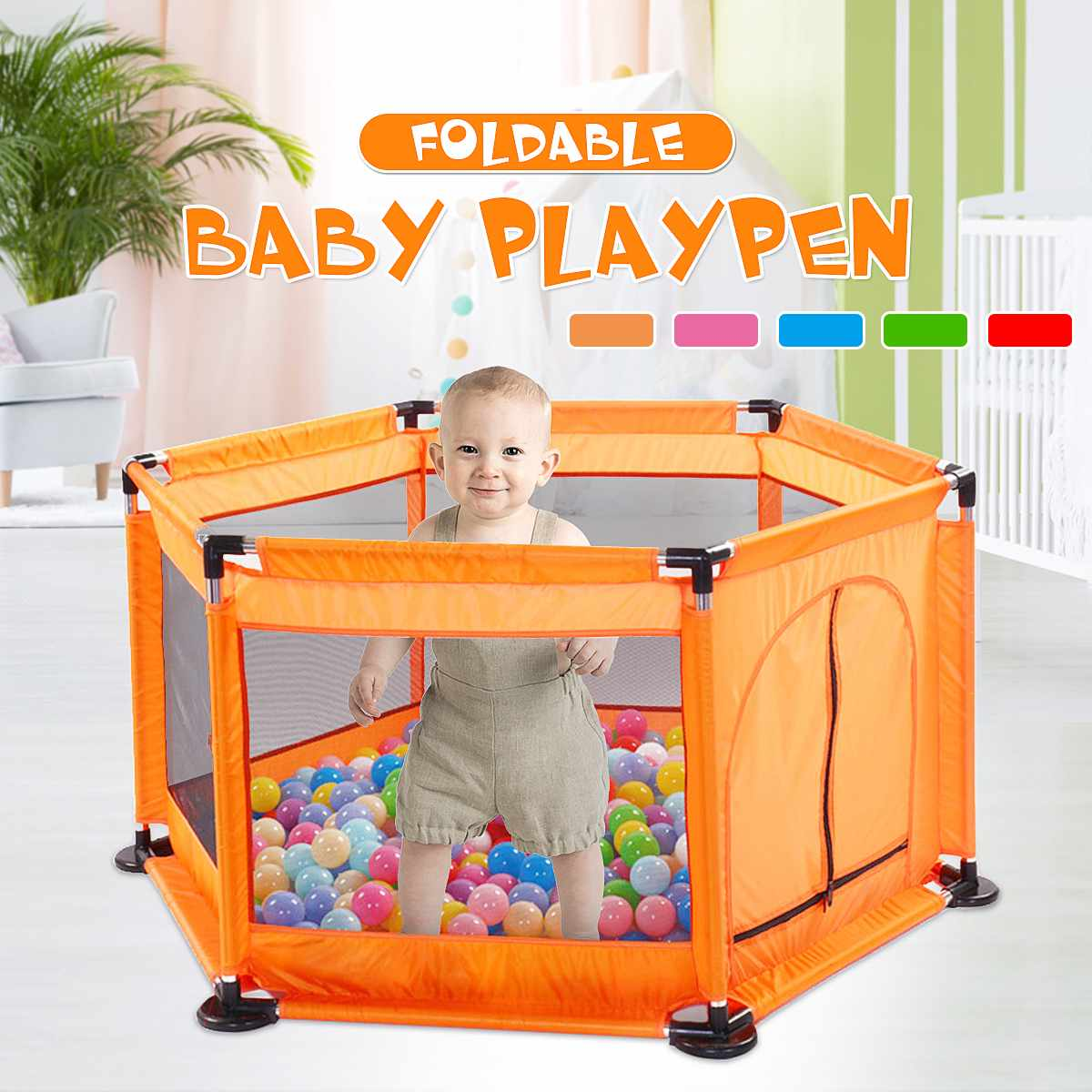 Baby Playpen Children Baby 0-6 Years Old Fence Children with Free Ocean Balls Playground Kids Ball Pool Pit Baby Playpen Balls