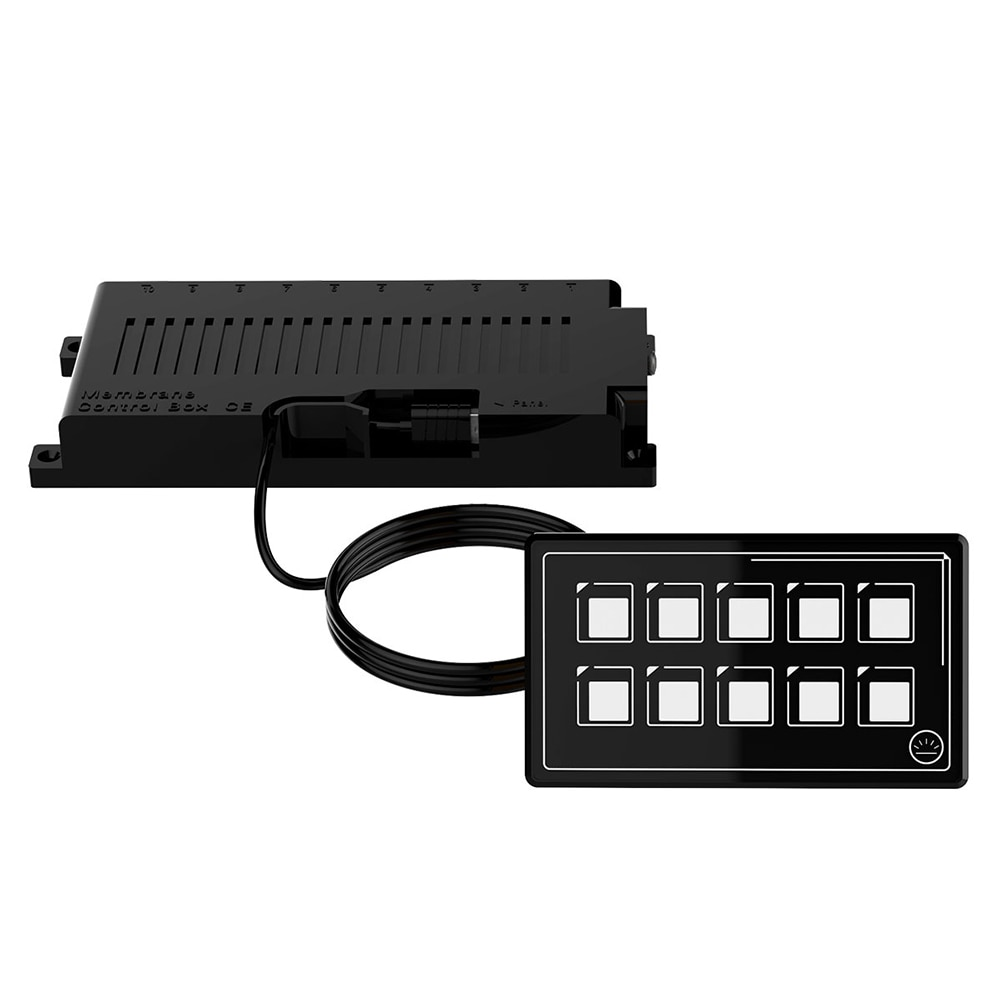 DC 11-30V. SP5110A IP67 Waterproof RV Bluetooth-compatible PET Film Touch Screen.10 Gang LED Light Display Switch Panel enlarge
