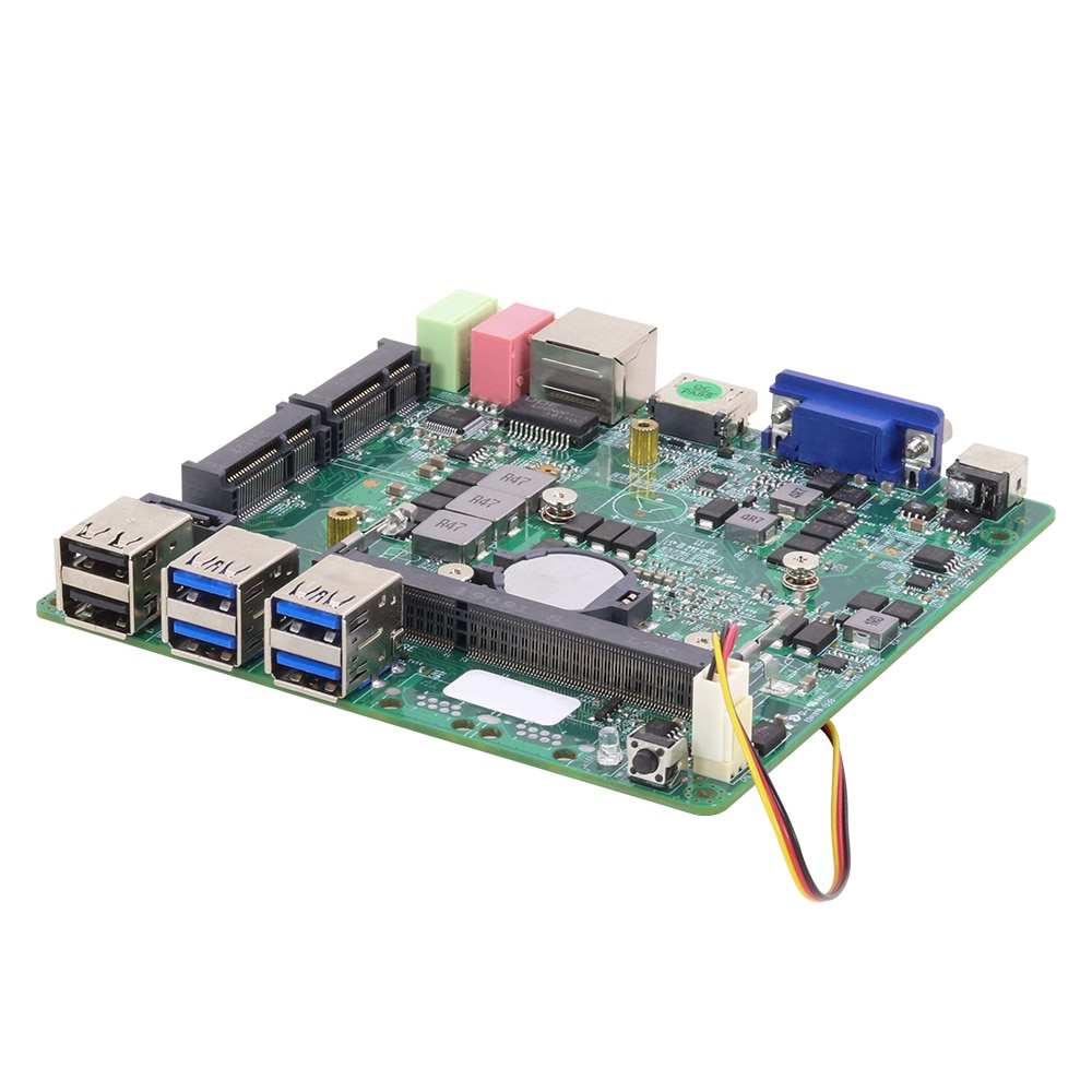 Placa base Mini ITX Intel Core i5 4200U Gráficos HD 4400 DDR3L mSATA 6 * USB VGA HDMI WiFi Gigabit LAN DC 12V 5A Mini placa base