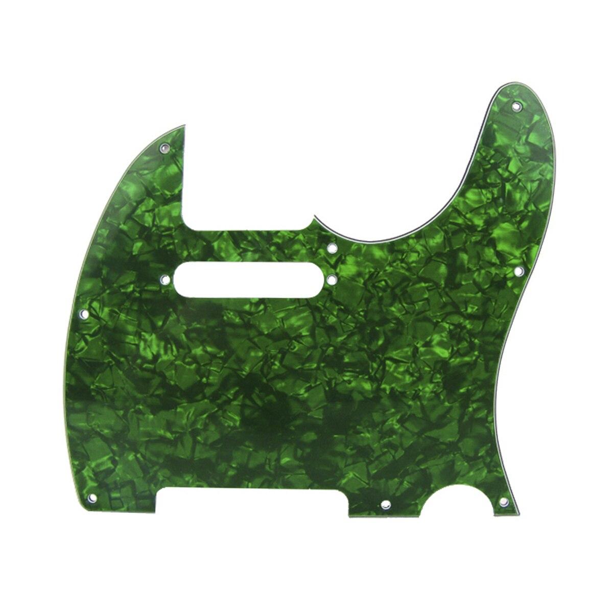 Musiclili 8 agujero Tele guitarra Pickguard para EE. UU./Fender hecho mexicano estándar Telecaster estilo moderno, 4Ply perla verde