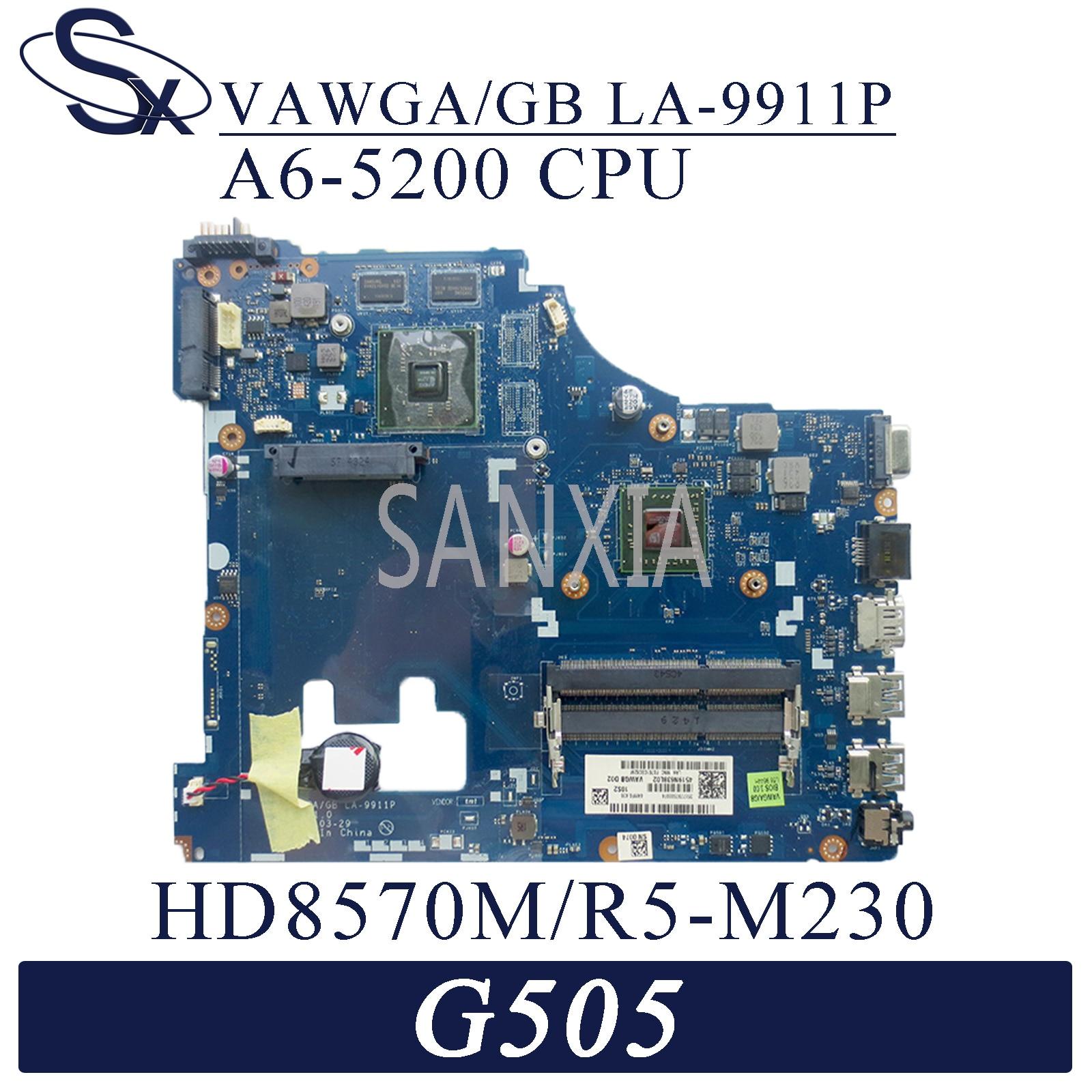 Placa base de ordenador portátil KEFU LA-9911P para Lenovo G505, placa base original AMD A6-5200 HD8570M/R5-M230