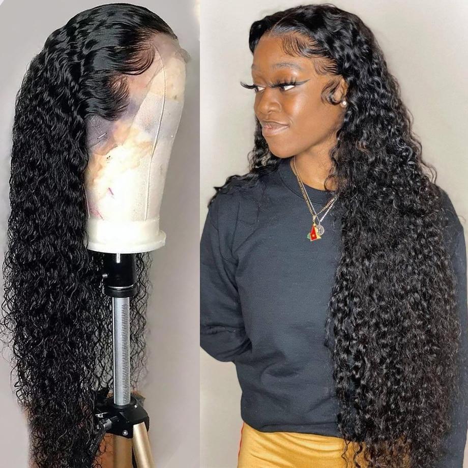 شعر مستعار برازيلي مموج طبيعي ، شعر بشري مجعد ، منتف مسبقًا ، 13 × 4 ، 30 بوصة ، للنساء