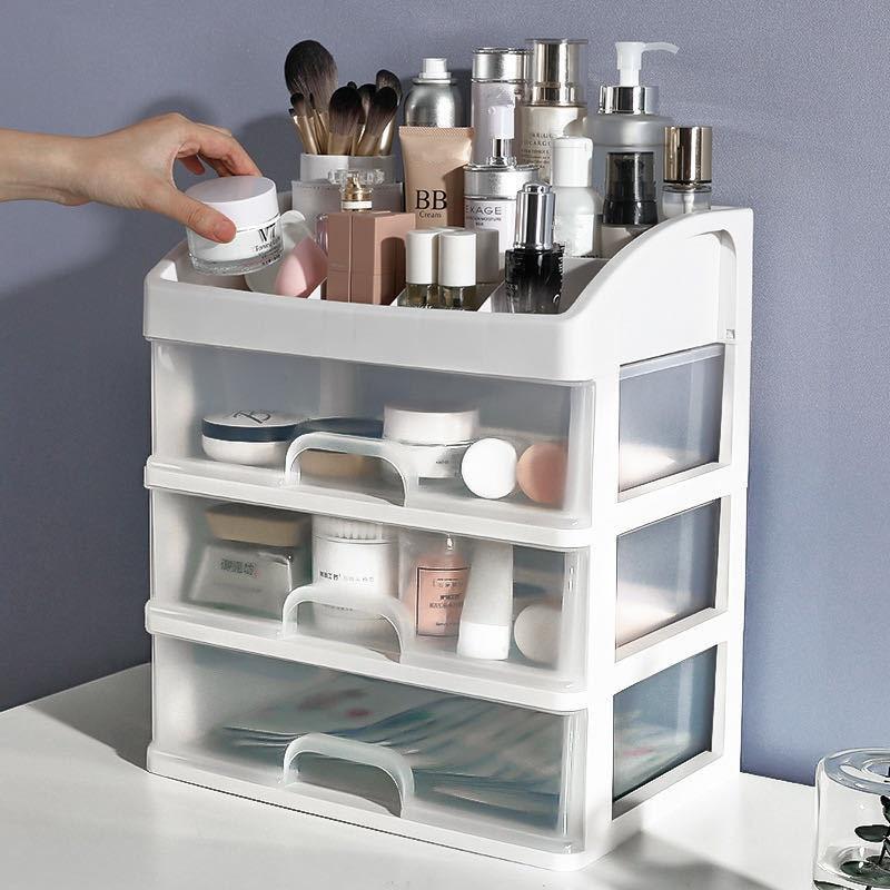 2021 New Makeup Organizer Drawers Plastic Cosmetic Storage Box Jewelry Container Make Up Case Makeup Brush Holder Organizers Box