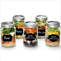20pcs multiple combination label wall stickers graffiti and easy erase the seasoning bottle glass marking decoration