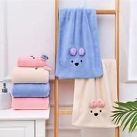 towel set high elastic edge bath towels for adults face towel cute bear girls child kids microfiber towel women towels bathroom