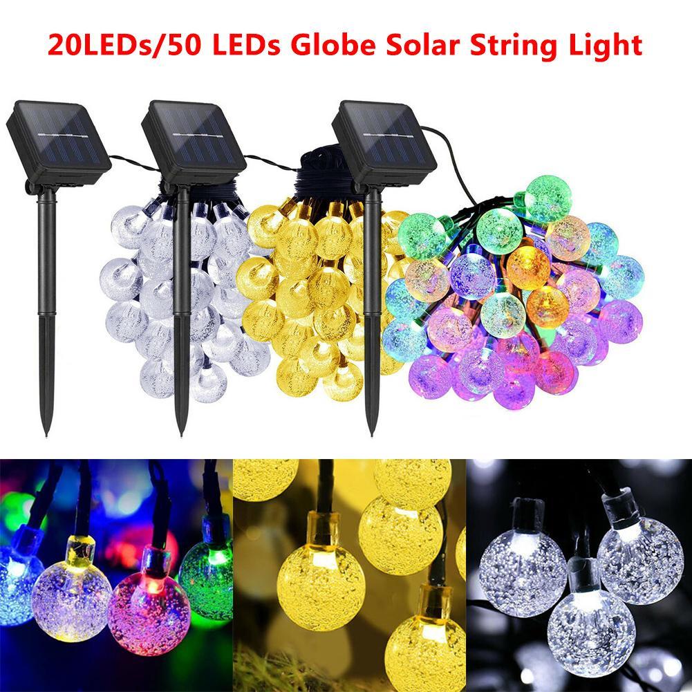 Led String Lamp Solar Powered 20/50leds String Light Garden Path Yard Decor Lamp Led Outdoor Waterproof Holiday Lighting