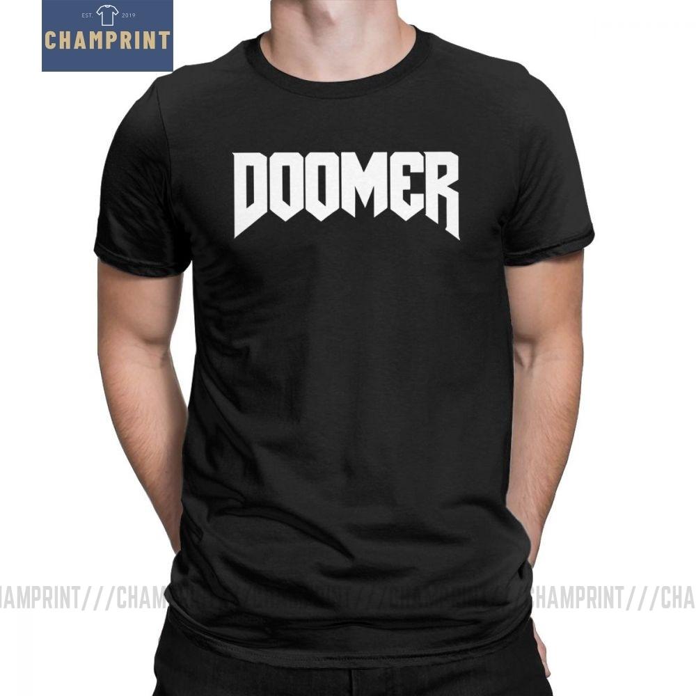 Doomer Doom camisetas para hombres Retro juego Conan bárbaro thussa Snake Cult Pure algodón camisetas de manga corta Camiseta gráfica Tops