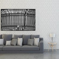wall art canvas poster painting prints picture for living bedding room decor painting original black and white typewriter