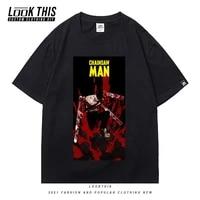 2021 manga chainsaw man summer cool street men boys t shirt harajuku street tee t shirts tops punk anime t shirt mens tops