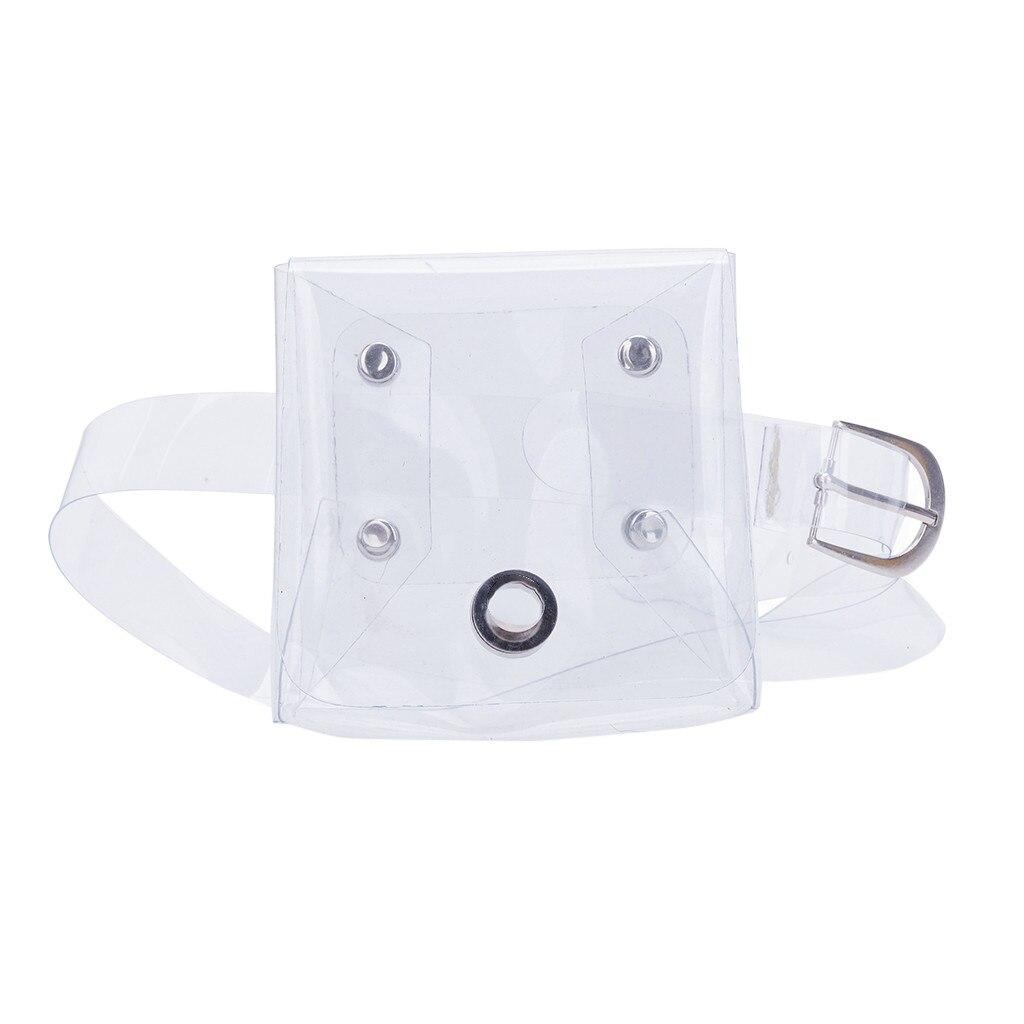 Bolsos de verano, bolso transparente, moda para mujer, Color sólido, bolso con cierre en el pecho, pequeña cintura, bolsos coreanos, bolso Satchel para mujer y Niña