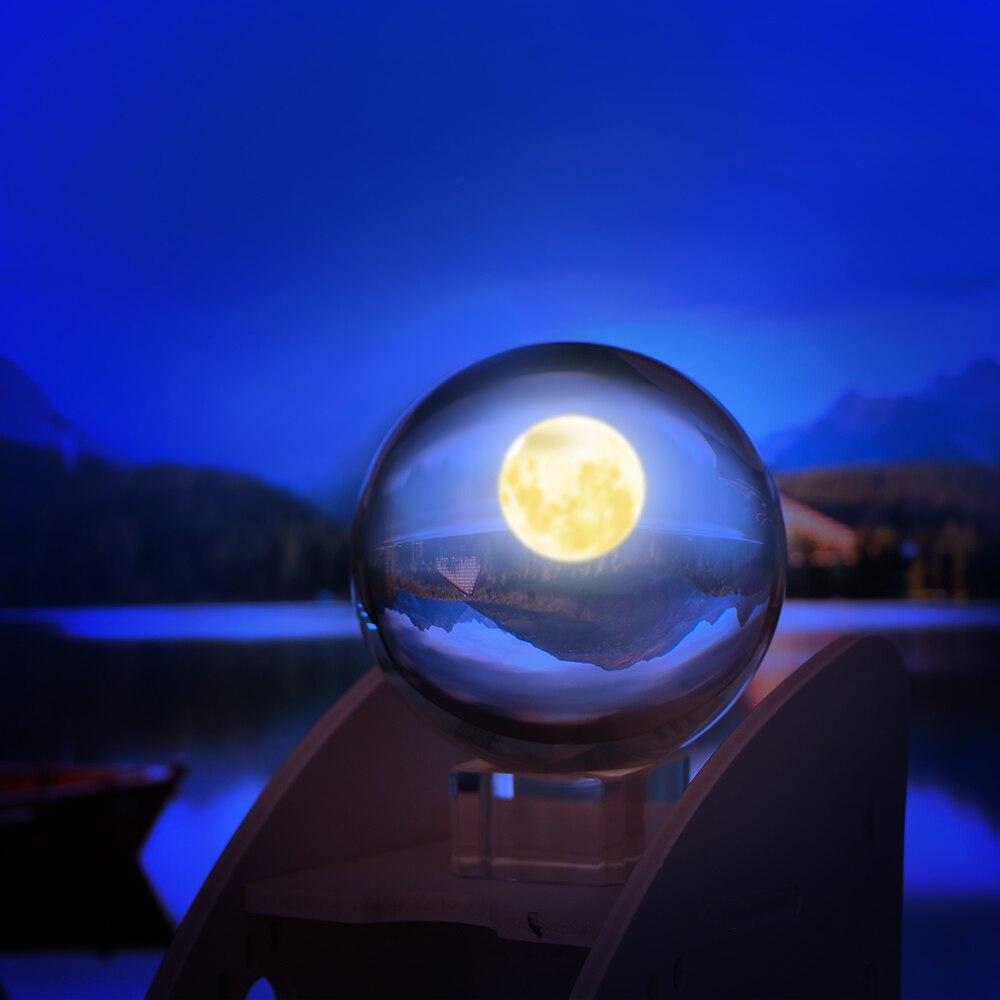 80mm Lensball cristal transparente esfera sanadora accesorios de fotografía regalos nuevas bolas decorativas de cristal Artificial estilo chino