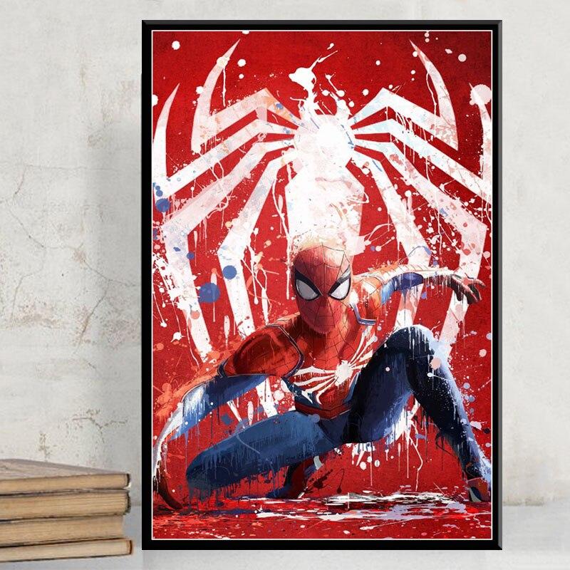 Spinne-Mann Heiße Marvel Superhero Comic Film Kunst Malerei Silk Leinwand Poster Wand Wohnkultur