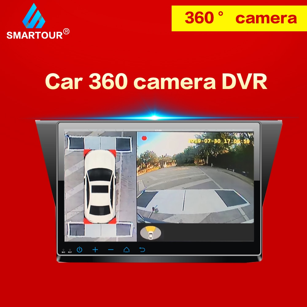 Smartour 360 Camera Parking Surround View HD Surround View  Driving Support Bird View Panorama System 4 Car Camera For Hyundai 3d car 360 hd surround view monitoring system 360 degree driving bird view panorama car cameras 4 ch dvr recorder with g sensor