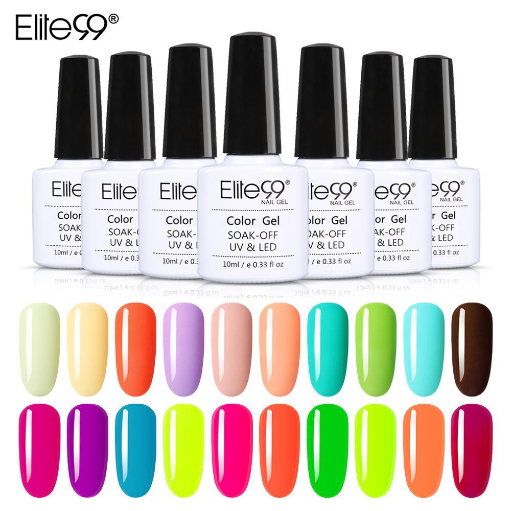 Elite99-Lámpara Macaron, esmalte de uñas de Gel UV híbrido para manicura semipermanente,...