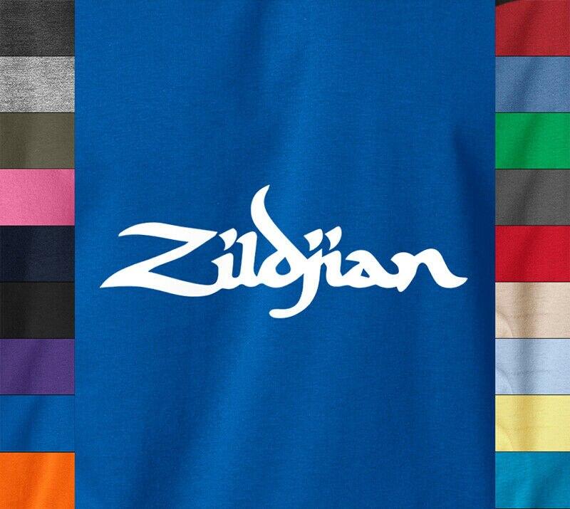 ZILDJIAN Cymbals Logo camiseta Rock Music ZBT tambores camiseta con imagen de batería anillo hilado de algodón