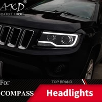 car styling head lamp case for jeep compass 2011 2016 grand cherokee led headlight drl lens double beam bi xenon