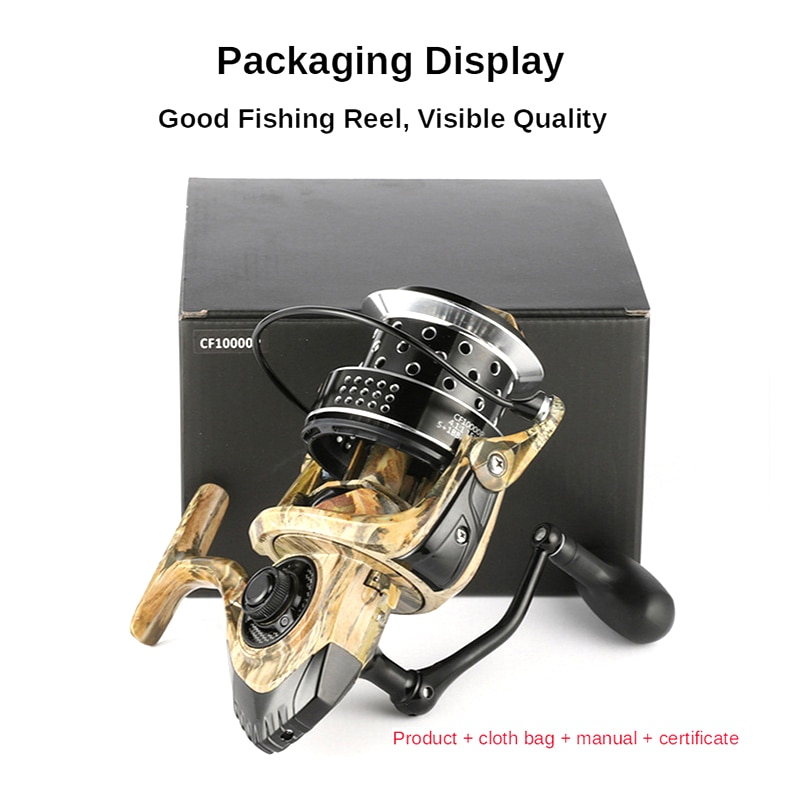 All Metal Spool Spinning CF8000P CF10000P CF12000P Big Sea Carp Fishing Reel 4.1:1 Jigging Trolling Long Shot Reel 15KG Max Drag enlarge