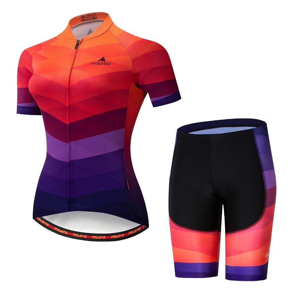 MILOTO-Conjunto de Ropa de Ciclismo de equipo profesional iam para mujer, conjunto...