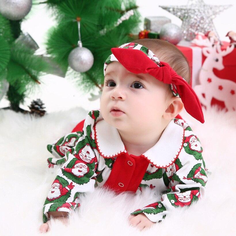 Mamelucos de Navidad para bebés Santa monos infantiles ropa para niños niñas traje de Año Nuevo niños monos ropa para bebés