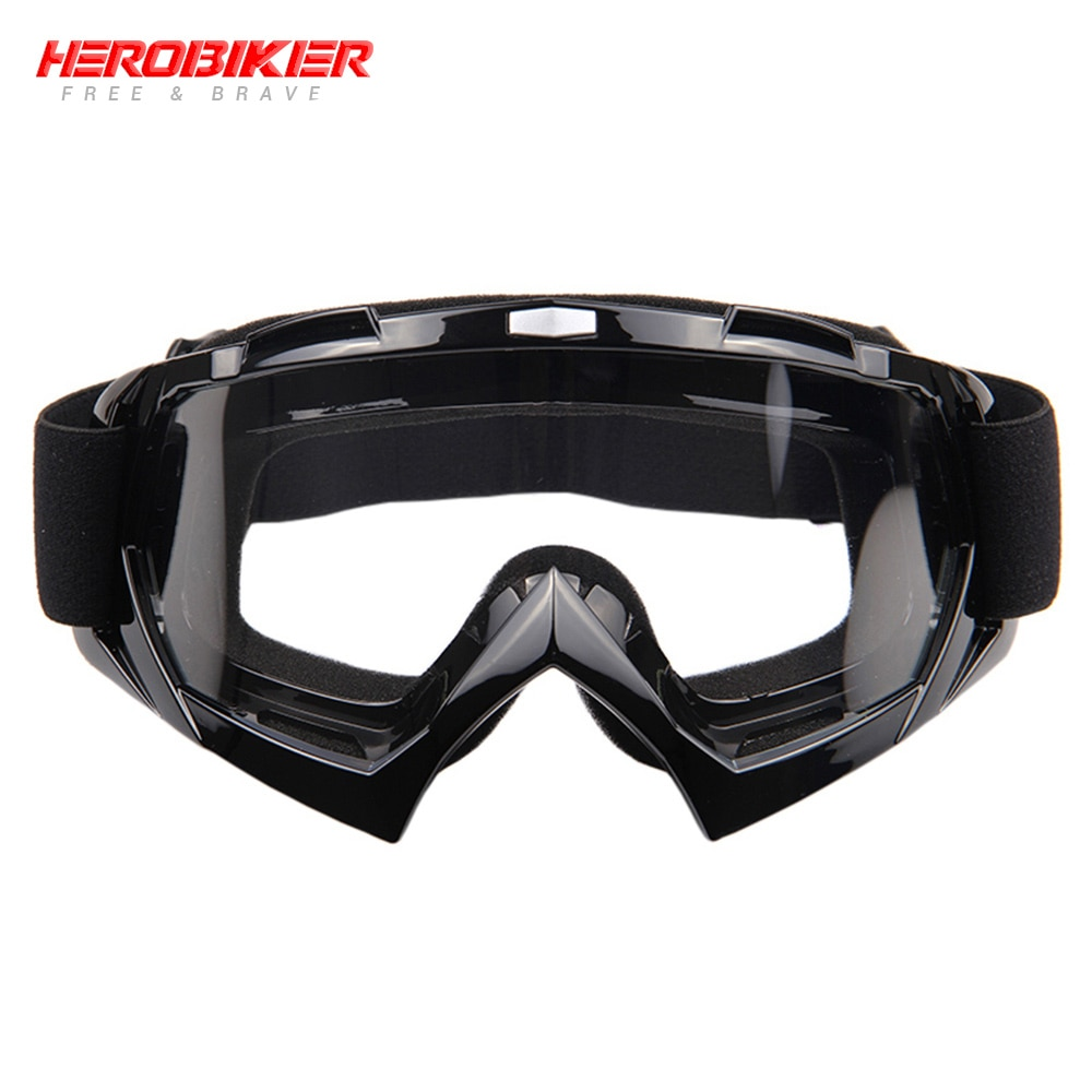 HEROBIKE New Motorcycle Off-Road Racing Goggles Winter Skate Sled ATV Eyewear Motocross DH MTB Glasses Single Lens Clears hot snowboard off road racing glasses eyewear ski snowmobile atv dh skate goggles single lens clears