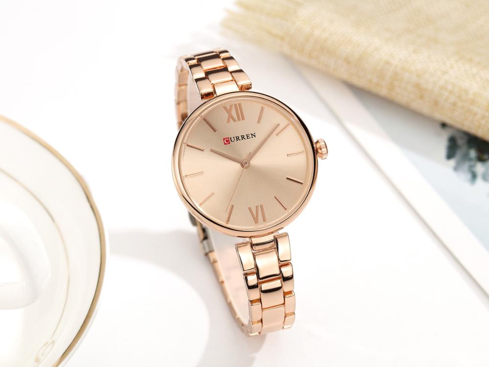 CURREN Casual Female Watch Stainless Steel Luxury Ladies Quartz Wristwatches Fashion Forward Water Resistant Relojes Para Mujer enlarge