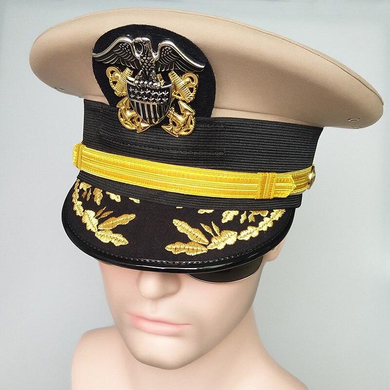 Navy Cap Machine Caps Cap Crew Uniform Vintage Hat Wide Brim Hat Mens Hats Fedoras Mens Hats Gentleman 2020