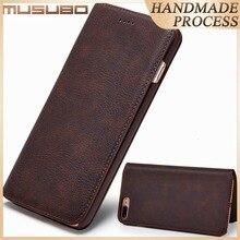 Musubo Luxe En Cuir coque de téléphone Pour iphone Xs Max X 7plus 6 6s Ultra mince Housse Avec Fente pour Carte Flip pour iphone 11 8 Plus