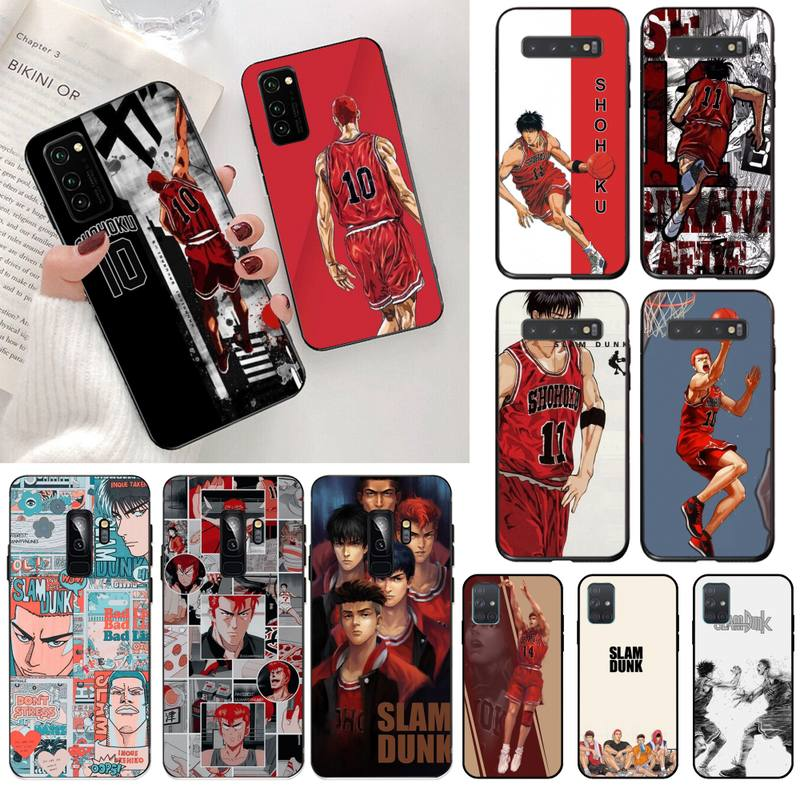 Slam dunk anime manga templado personalizado foto funda de teléfono suave para Samsung S20 plus Ultra S6 S7 borde S8 S9 más S10 5G lite 2020