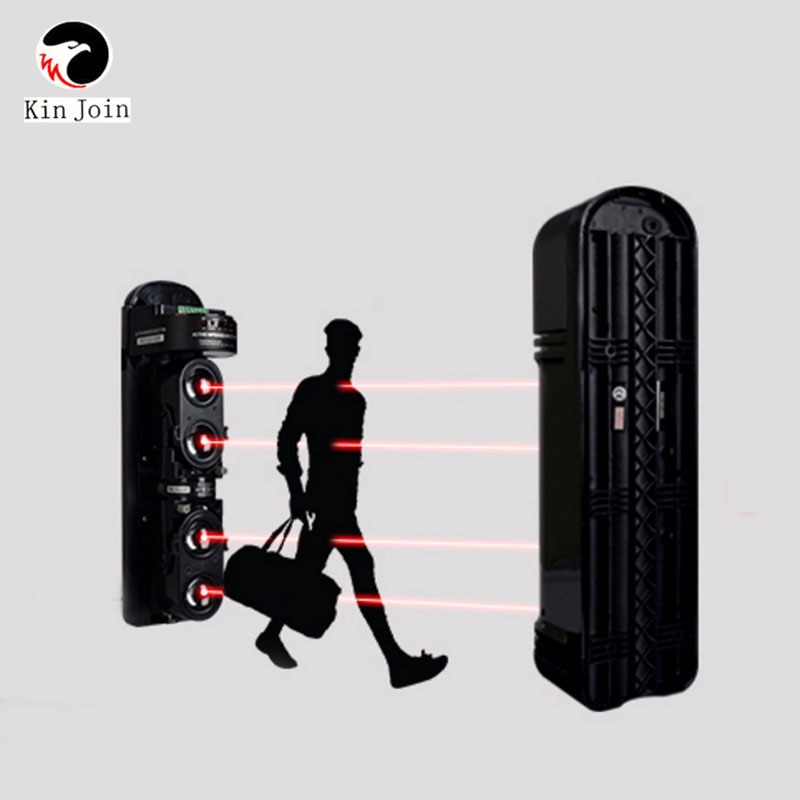 250m Alarm IR 4 Beams Infrared Barrier Alarm Three Beam Photoelectric Infrared Detector For Gate Opener, Barrier, Factory Alarm enlarge
