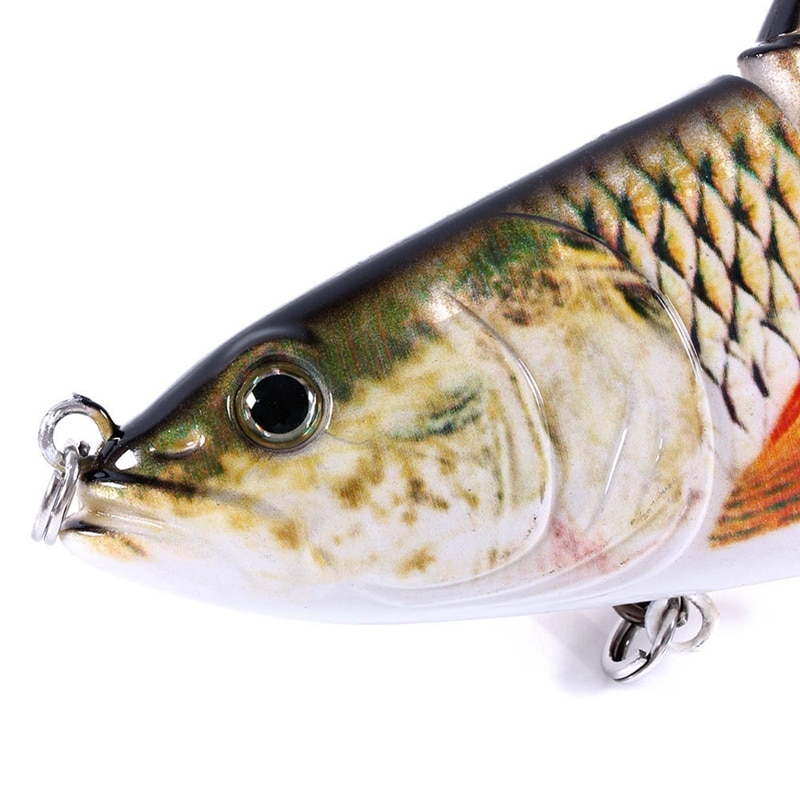 24 cm/140g swimbait isca multi articulado peixe wobblers lifelike pesca isca 4 segmento swimbait isca de pesca