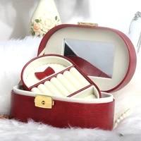 jewelry box with lock princess european korean small portable jewelry jewelry box ring jewelry storage box