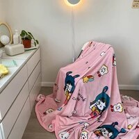 cartoon cute blanket bedspread coral flannel childrens blanket warm plush bed cover throw blanket happy nappers