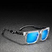 KDEAM Polarized Sunglasses for Women Classic Square Unisex Fashion Couple Sun Glasses Blue Reflectiv