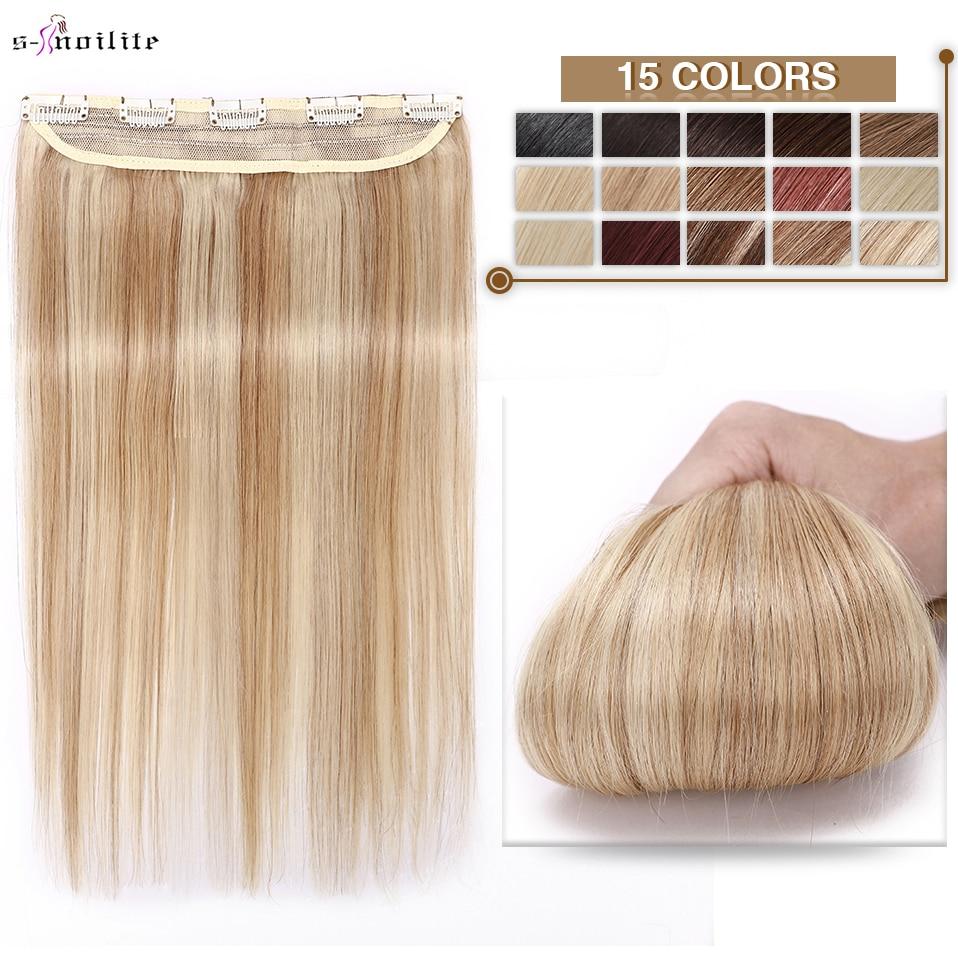 S-noilite 40-60g 8-24 Clip In Hair Extensions Human Hair Natural Extension Hair Clip 1pc 3/4 Full Head Clip In Natural Hair clip in soft wave hair extension 1pc