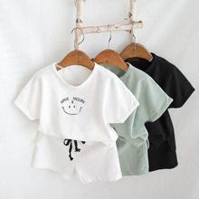 2020 nouveau nouveau-né infantile enfants bébé garçon fille vêtements coton lin hauts T-shirts + shorts pantalons 2 pièces ensemble de tenues dété