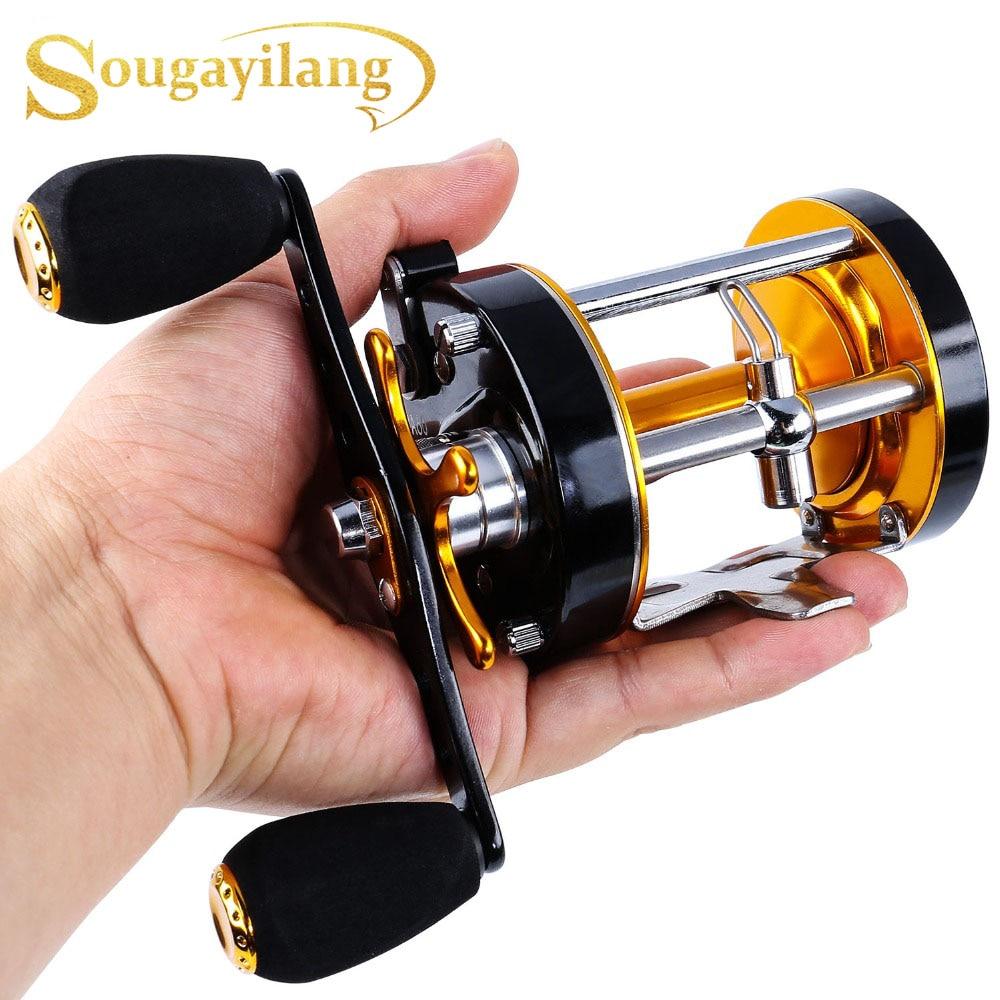 Sougayilang Right Hand Round Baitcasting Reel Top Quality Fishing  Metal Body and Powerful Star Drag Reel Wheel Max Drag 20kg