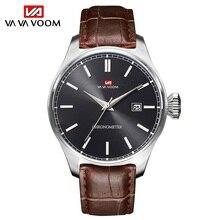 2021New Male Watch Luxury Fashion Business Sports Genuine Leather Watchbands Waterproof Calendar Qua