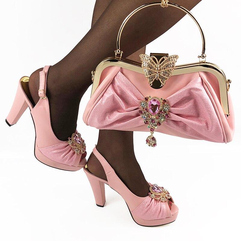 Doershow الأزياء أحذية و الحقائب لمطابقة مجموعة إيطاليا حزب مضخات مطابقة الايطالية حذاء وحقيبة مجموعة للحزب الأطراف HDA1-4
