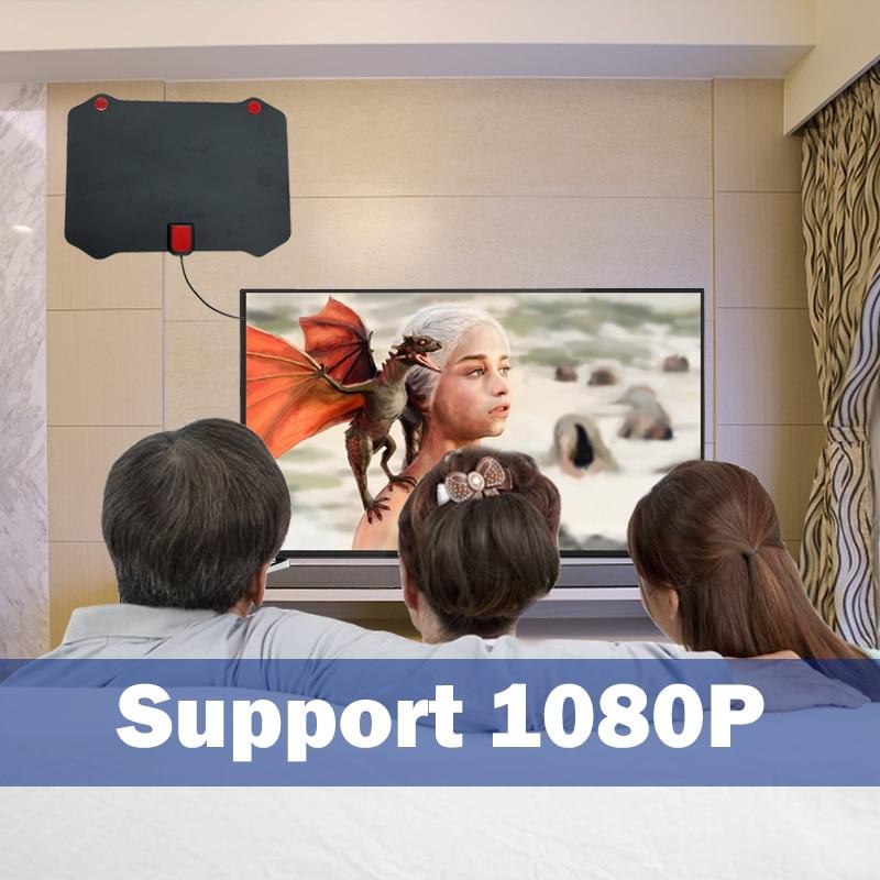 Antena de tv digital para interior y exterior, hdtv hqclear, potenciador de...