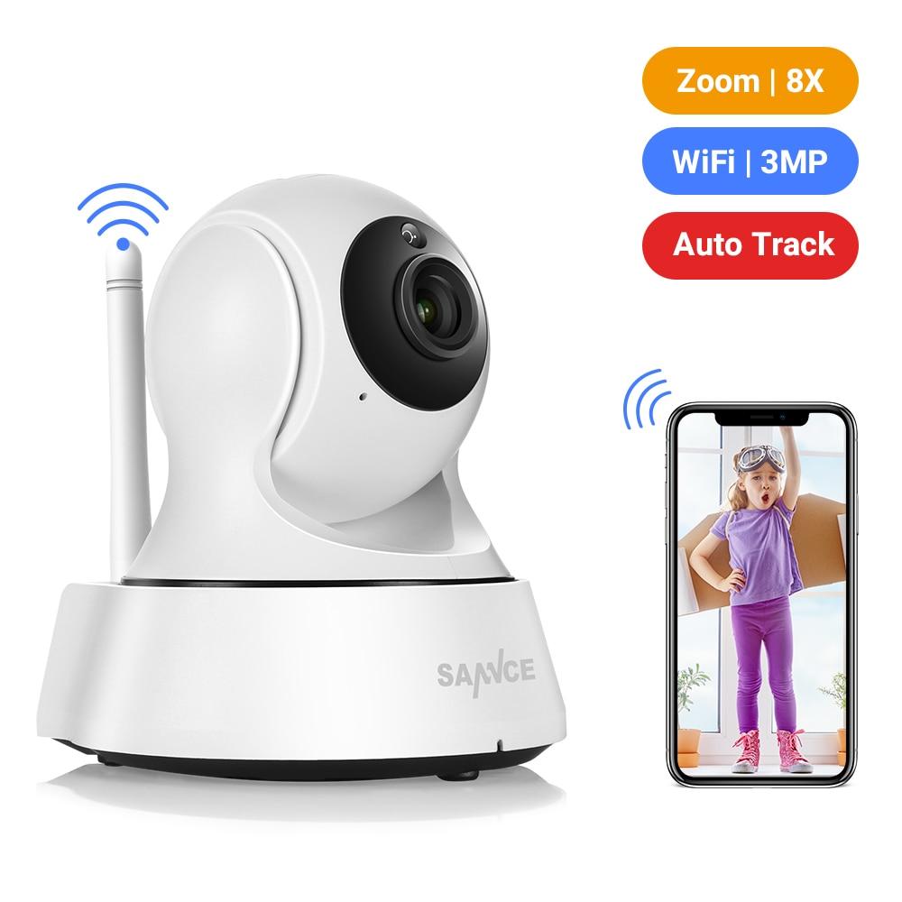 SANNCE 2K أمن الوطن كاميرا IP واي فاي كاميرا شبكة مراقبة صغيرة لاسلكية مراقبة واي فاي 3MP للرؤية الليلية كاميرا تلفزيونات الدوائر المغلقة مراقبة ال...