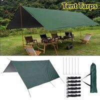 multifunctional tent tarp outdoor awning lightweight rain sun shade hammock camping shelter pop up tent ultralight roof top tent