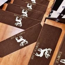 4 pièces/ensemble escalier lumineux tapis de sol auto-adhésif escalier tapis de sol tapis maison bureau escalier autocollant antidérapant étape tapis
