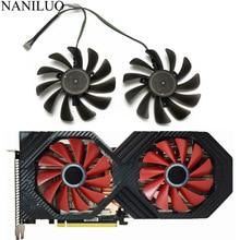 2 PCS/lot 95MM FDC10U12S9-C CF1010U12S VEGA 64 56 Double édition pour XFX AMD Radeon VEGA56 VEGA64 RX590 ventilateur de refroidissement de carte graphique
